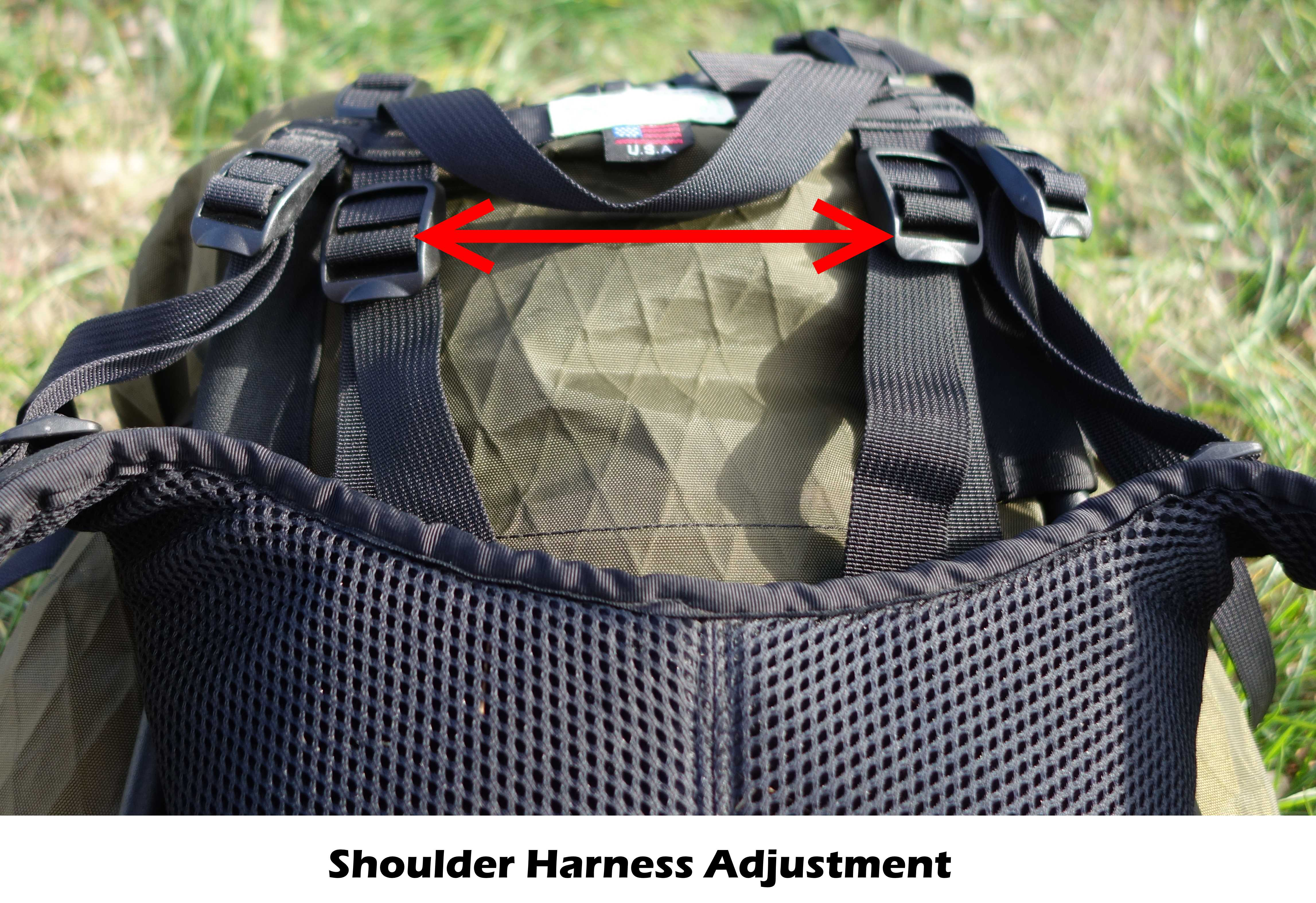 Seek Outside Divide harness adjustment